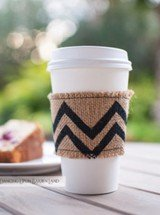 hand crafted chevron coffee sleeve
